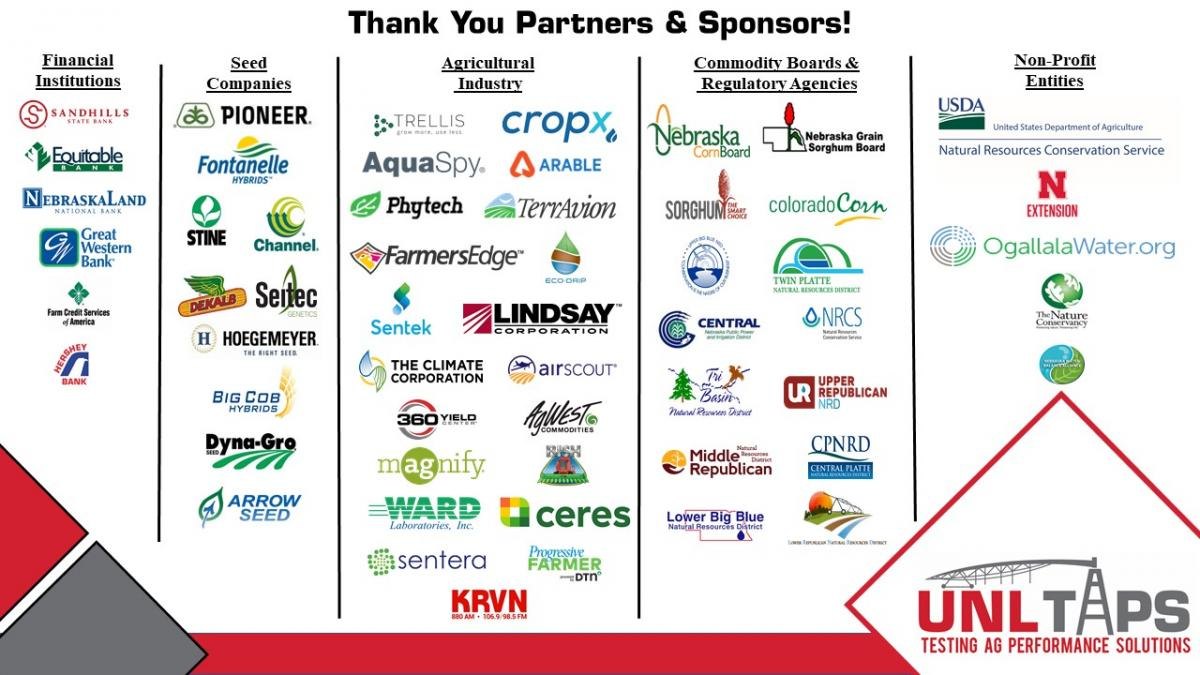 Graphic of 2020 partners and sponsors