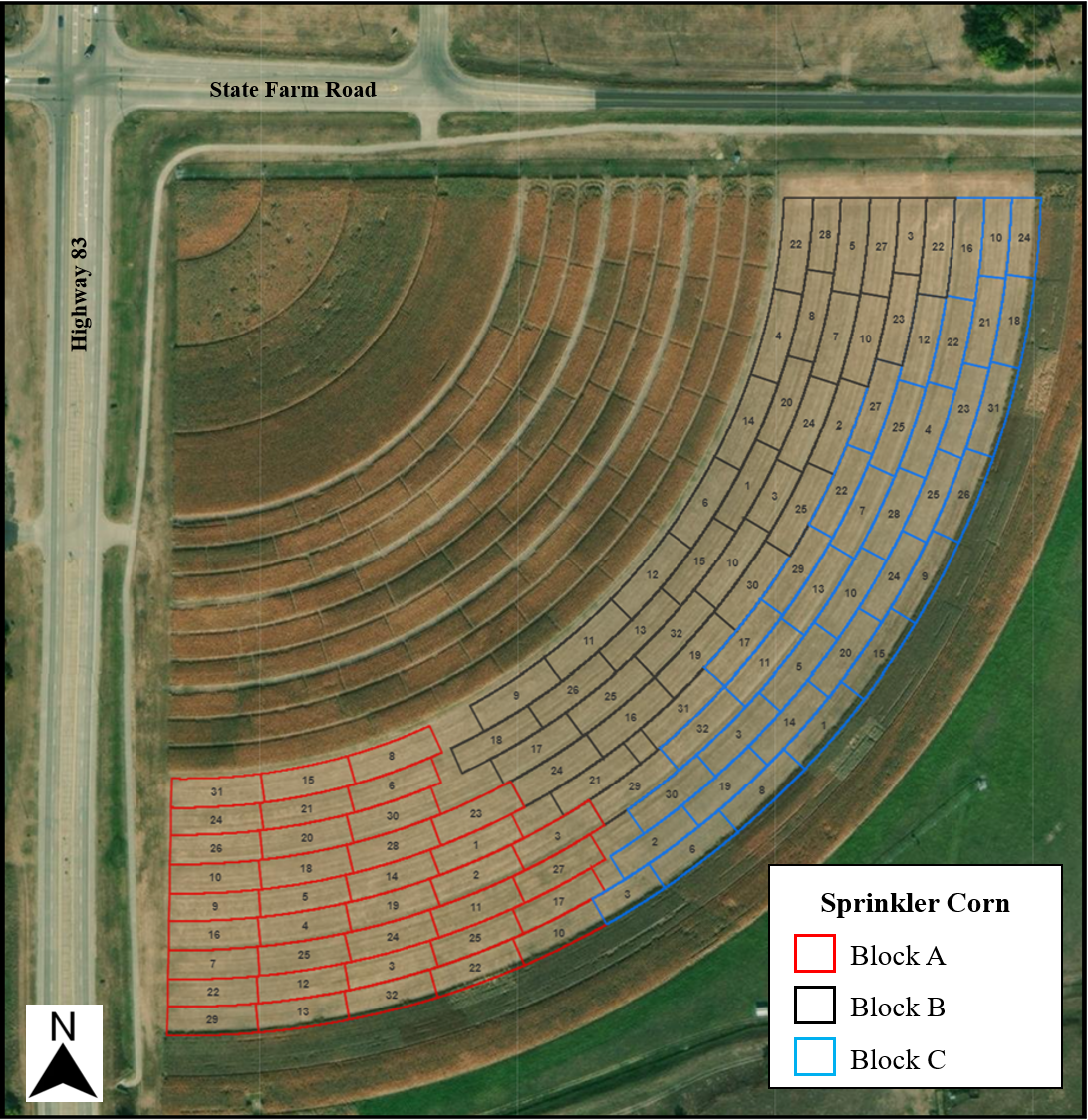 Sprinkler Corn Competition Layout
